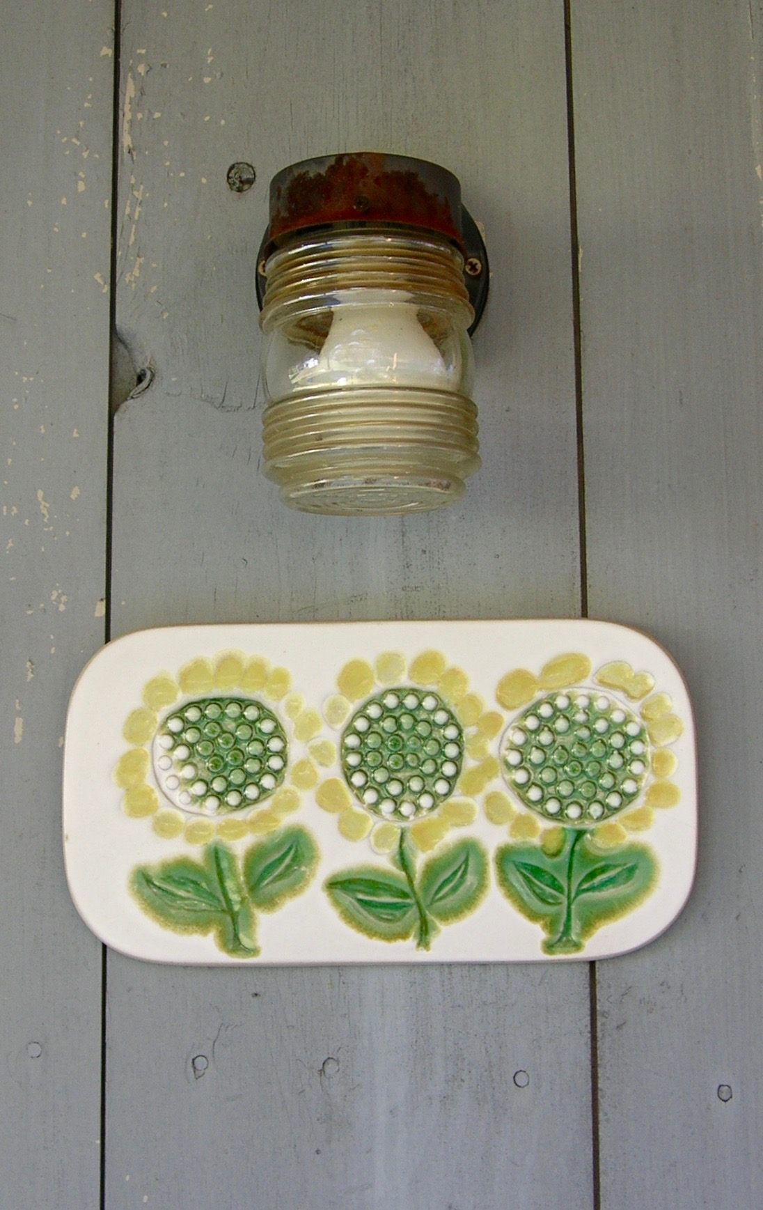 sunny flower plaque