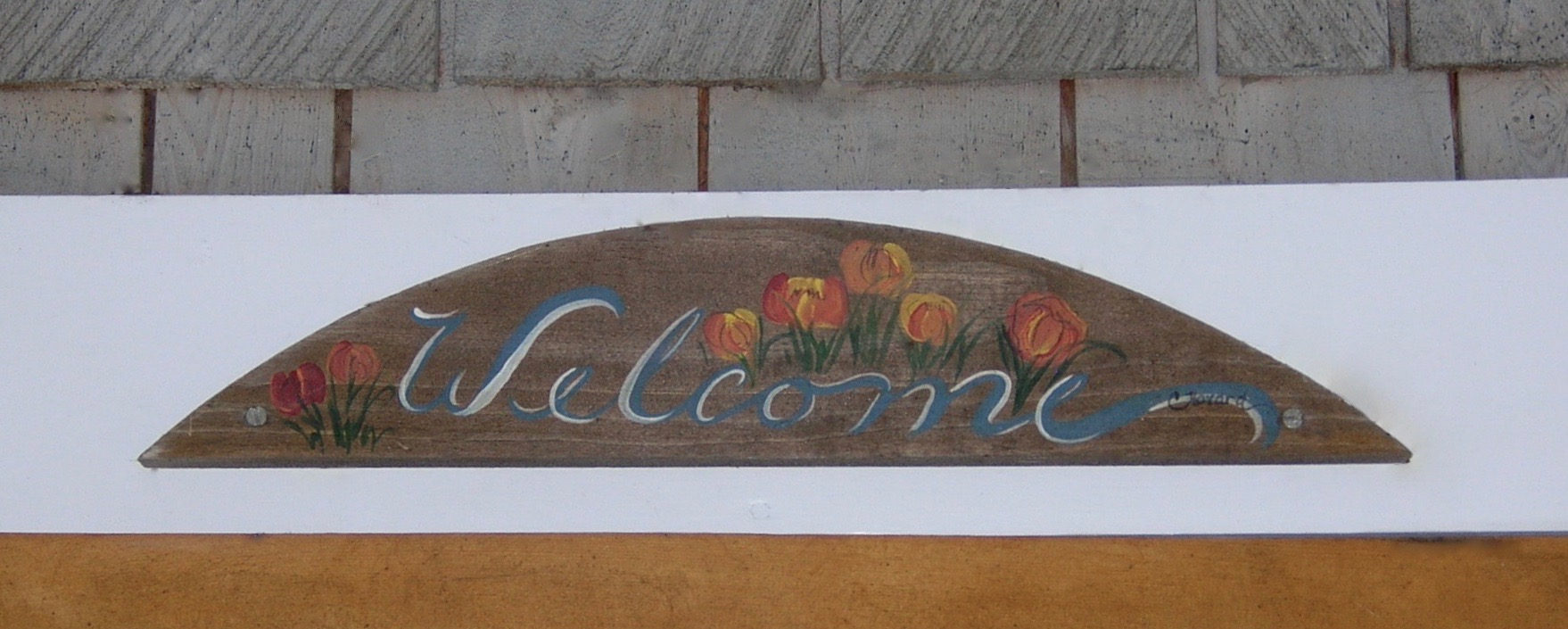welcome arch sign
