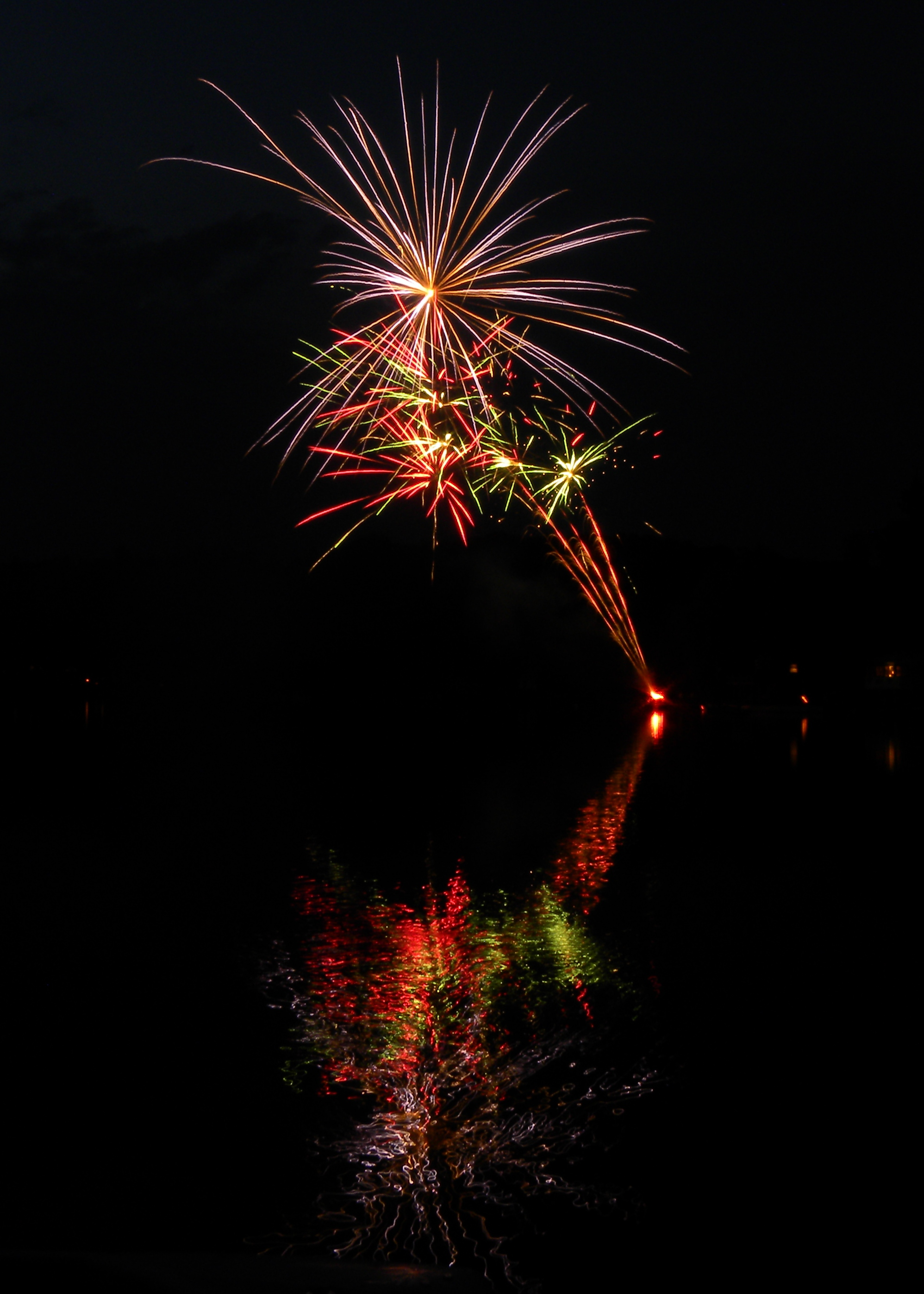 firework reflection
