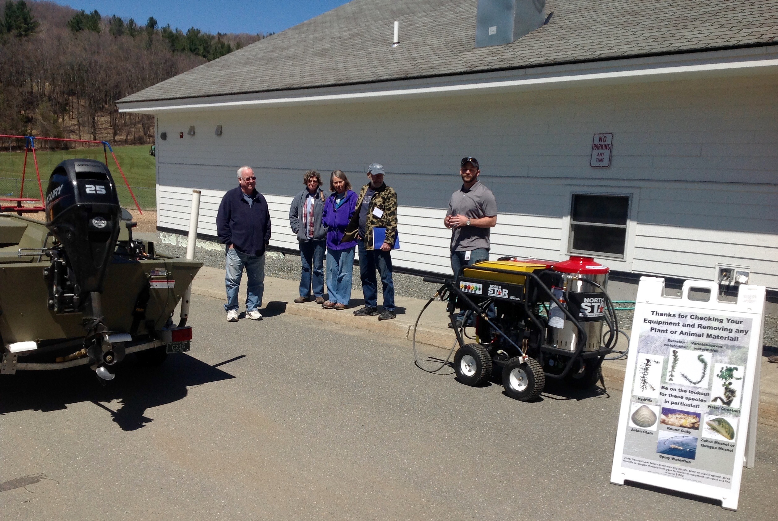 In April 2016 the SLA hosted a boat wash greeter training workshop where VTDEC demonstrated this mobile hot water pressure washer purchased for about $3,500.